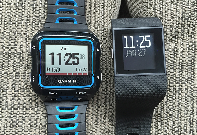 Comparing FitBit SurgeHR and Garmin 920XT