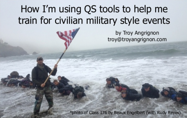 Quantified Self: How I'm using QS tools and techniques to aid my training for civilian military style events
